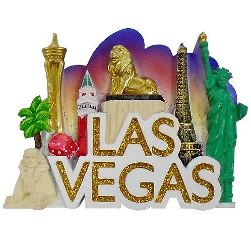 LV Famous Hotels Magnet