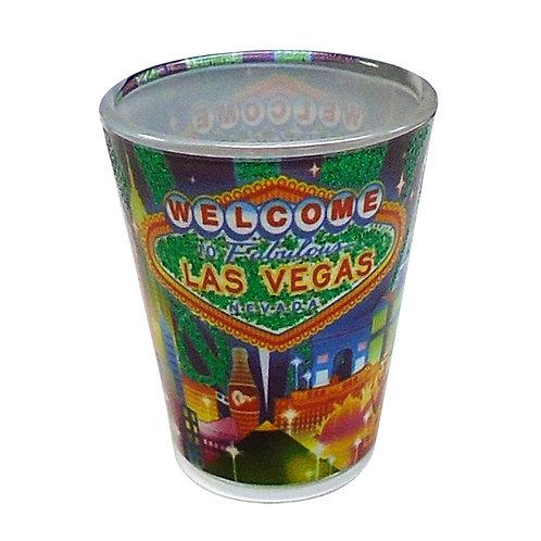 Las Vegas Collage Shot Glass