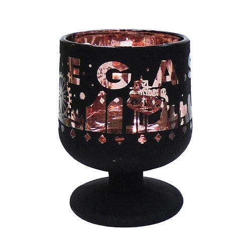 Las Vegas Matte Black and Rose Gold Chrome Mini-Wine Shot Glass
