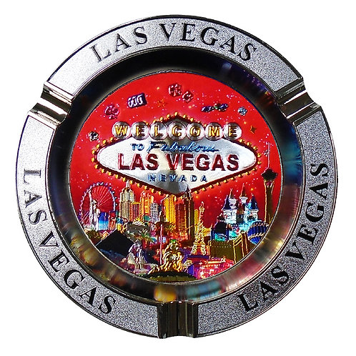Las Vegas Metal Ash Tray