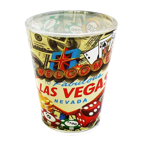 Las Vegas Gambling Shot Glass