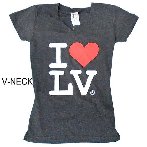 I Love LV Ladies V Neck