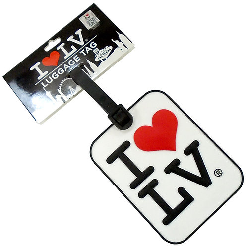 I Love LV Luggage Tag