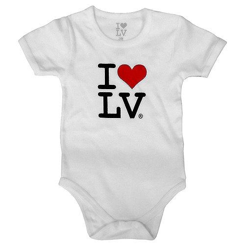 I Love LV Baby Onesies