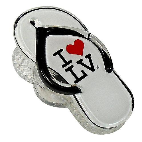 I Love LV Sandal Magnet Clip