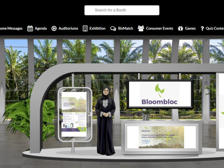 BloomBloc Sdn. Bhd. virtual booth at the POTS Digital event on 5th - 7th January 2021