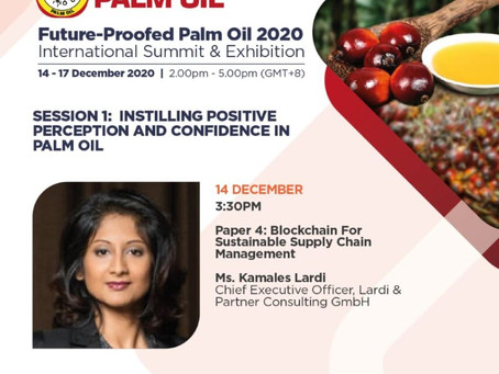 Event: BloomBloc Founder Kamales Lardi speaking at the Future-Proofed Palm Oil 2020