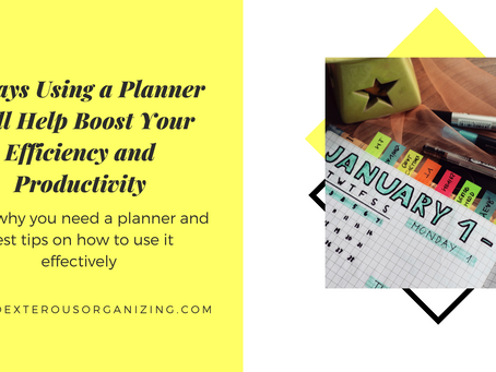 5 Ways Using a Planner Will Help Boost Your Efficiency and Productivity