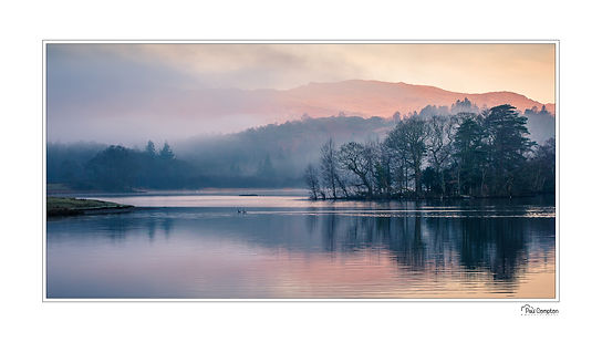 Tarn Hows, reflections, trees, mountains, clouds, lake district, Cumbria, Rydal Water