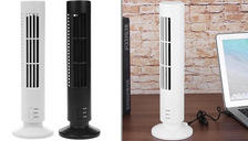 USB Bladeless Oscillating Tower Fan - 2 Colours