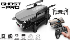 Ghost-Pro Next Gen Smart Foldable Drone With WiFi HD Wide Angle Camera - 4 Options
