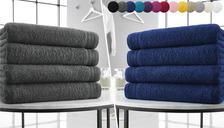 4 x Wilsford Egyptian Cotton Jumbo Bath Sheets - 15 Colours