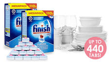 Finish Powerball Dishwasher Tablets - 110, 220, 330 or 440-Pack