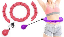 Adjustable Exercise Hoop with Suspended Weight - 2 Colours & 4 Sizes