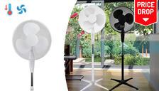 16-Inch 3-Speed Oscillating Pedestal Fan - 2 Colours