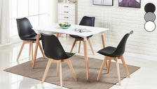 Set of 1, 2 or 4 Jenson Dining Chairs - 3 Colours