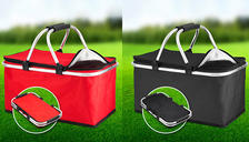 XL 30L Insulated Cooling Picnic Basket With Handles - 2 Colours