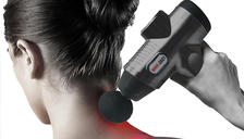 USB Digital Electric Massage Gun With 6 Heads - 2 Colours