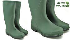 Green Mucker Rubber Unisex Wellington Boots - 5 Sizes
