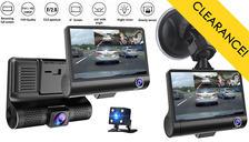 Triple Vision Dash Cam - Front, Rear & Interior Lenses