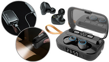 TWS Waterproof Bluetooth Sport Earbuds & LED Torch