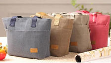 Thermal Canvas Lunch Bags - 4 Colours