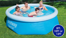 Bestway Inflatable Fast Set Swimming Pool - 8ft, 10ft ,12ft