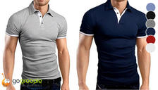 2-Pack of Men's Classic Polo Shirts - 6 Colours