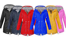 Long Hooded Women's Raincoat - 6 Colours & 8 Sizes