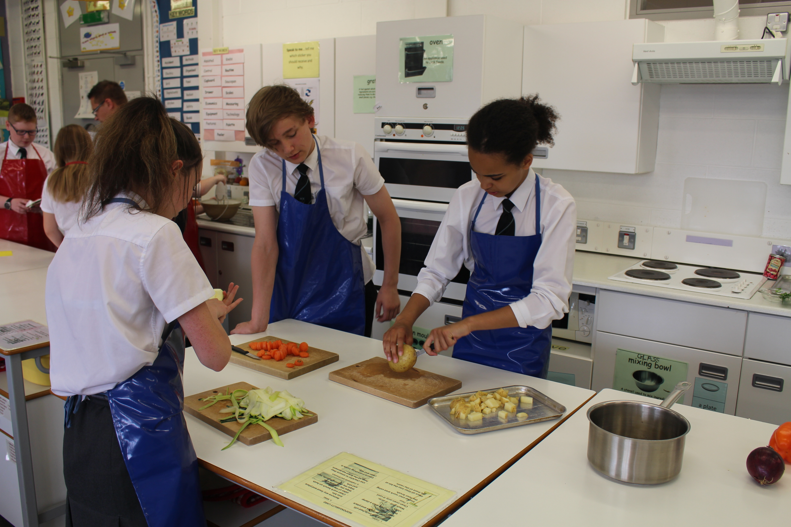 Hard at work in Home Economics