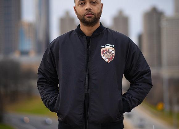 Black Unisex Bomber Jacket