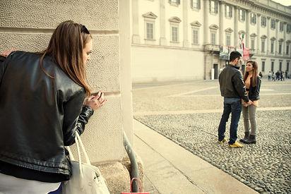 Stalking - Ex girlfriend spying her ex b