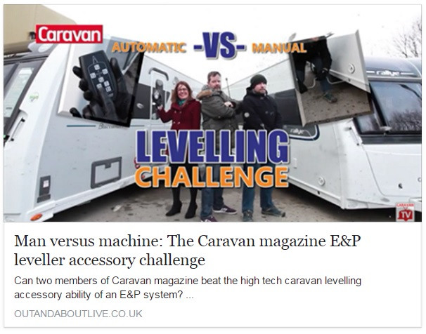Three members of Caravan magazine battle it out to level a tourer – two manual winders against one with an E&P LevelSystem. Who will win?