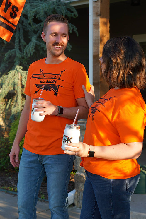 Oklahoma Arrow Orange Shirt