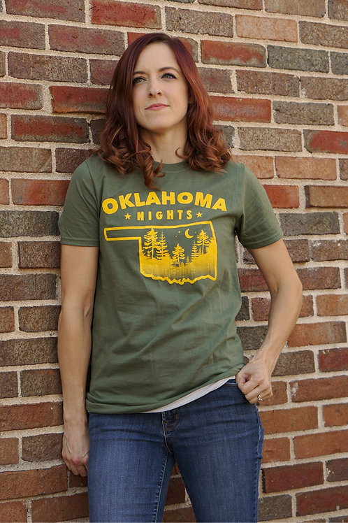 Oklahoma Nights Military Green Shirt