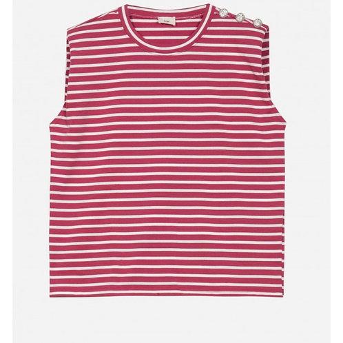 Camiseta raya fresa hombrera