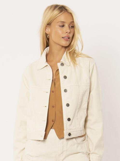 chaqueta denin blanco roto