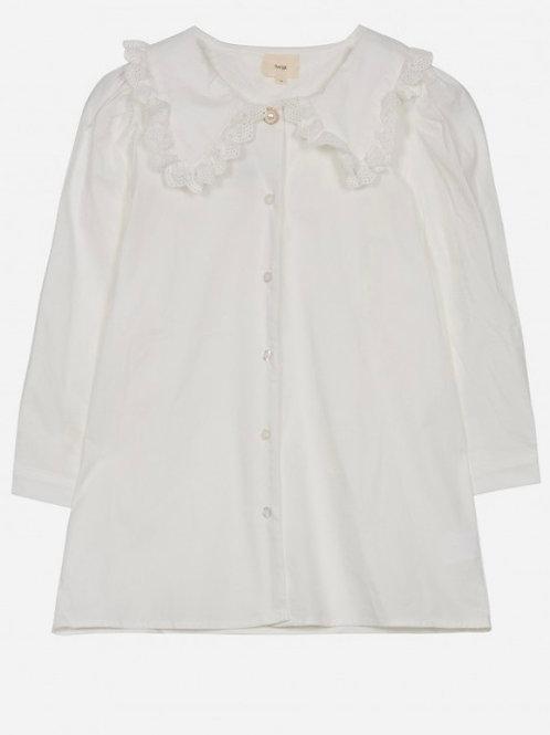 Camisa cuello bebé white