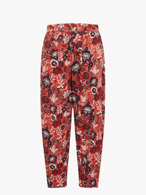 Pantalón slowchy red flowers sophie And lu
