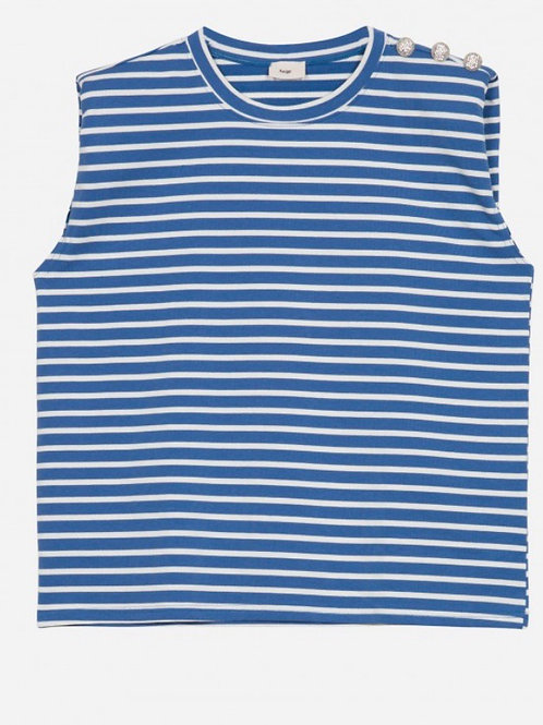 Camiseta hombreras navy
