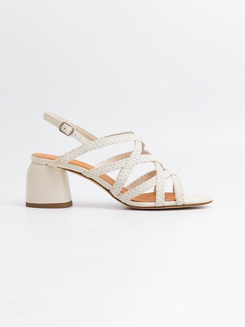 Sandalia trenzada blanca NAGUISA