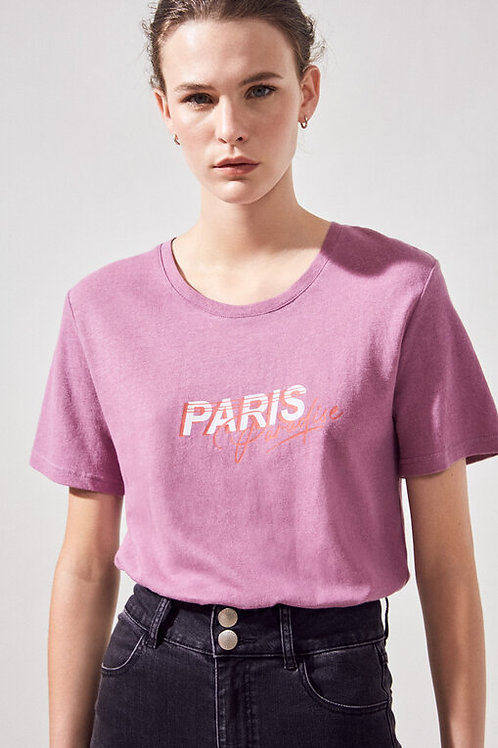 Camiseta Lila Paris
