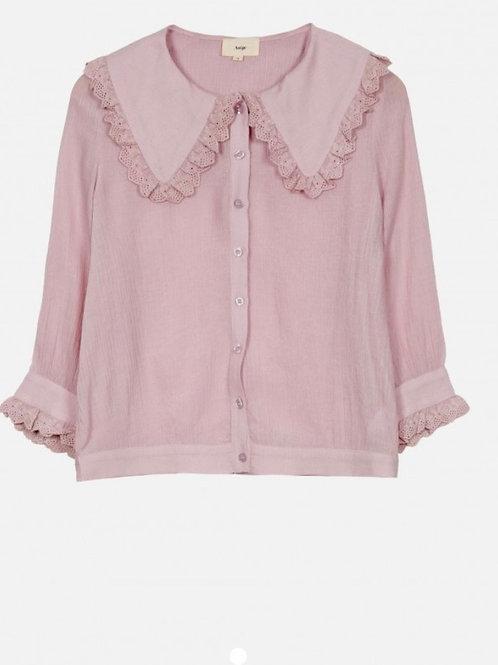 Camisa cuellos rosa p