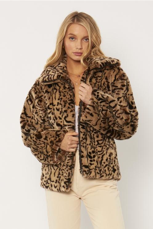 Abrigo Fur leopardo
