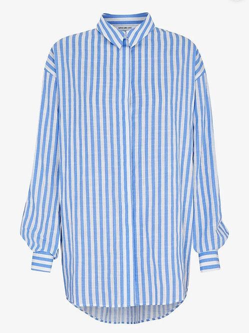Camisa mil rayas azul sophie And lu