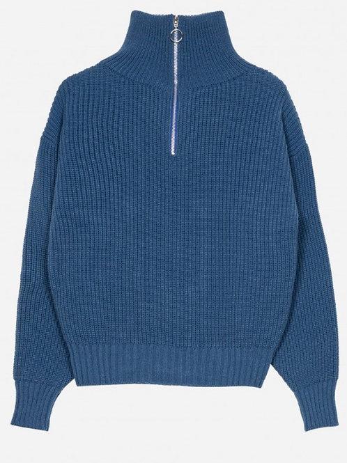 Jersey blue cremallera