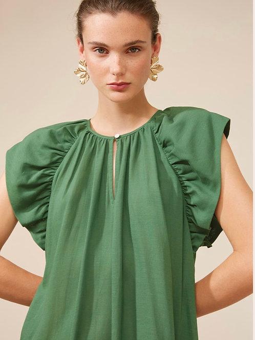 Vestido verde yerba