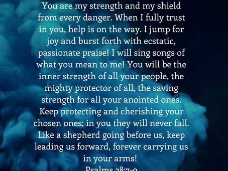 You are my strength ; You are my shield