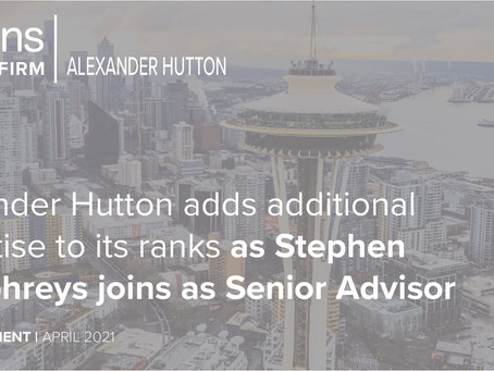 Alexander Hutton adds additional expertise to its ranks as Stephen Humphreys as Senior Advisor