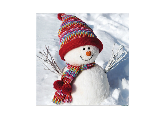 Snowman and his big hat - Pack of 10 cards